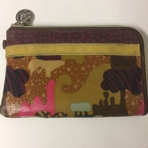 Fossil Key-Per Waxed Canvas Zip Around Wallet